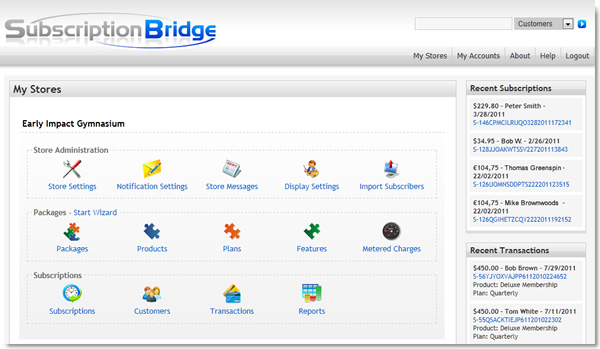SubscriptionBridge Merchant Center
