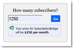 subscription billing prices